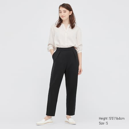 Women Stretch Tapered Easy Trousers