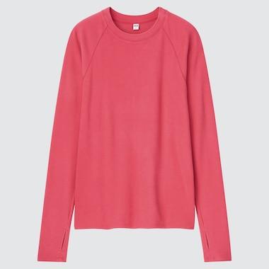 WOMEN HEATTECH STRETCH FLEECE CREW NECK LONG-SLEEVE T-SHIRT