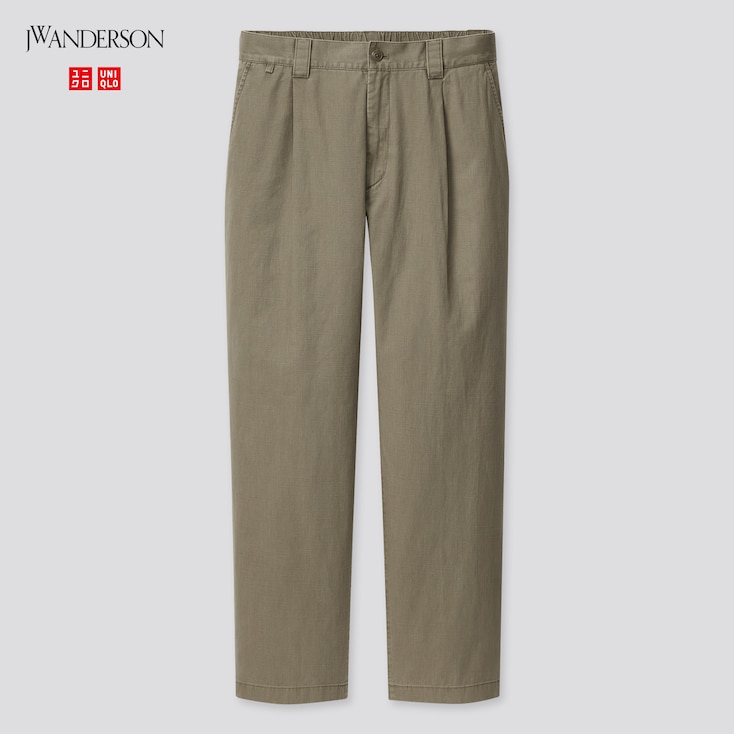 Men Relaxed Pants (Jw Anderson), Olive, Large