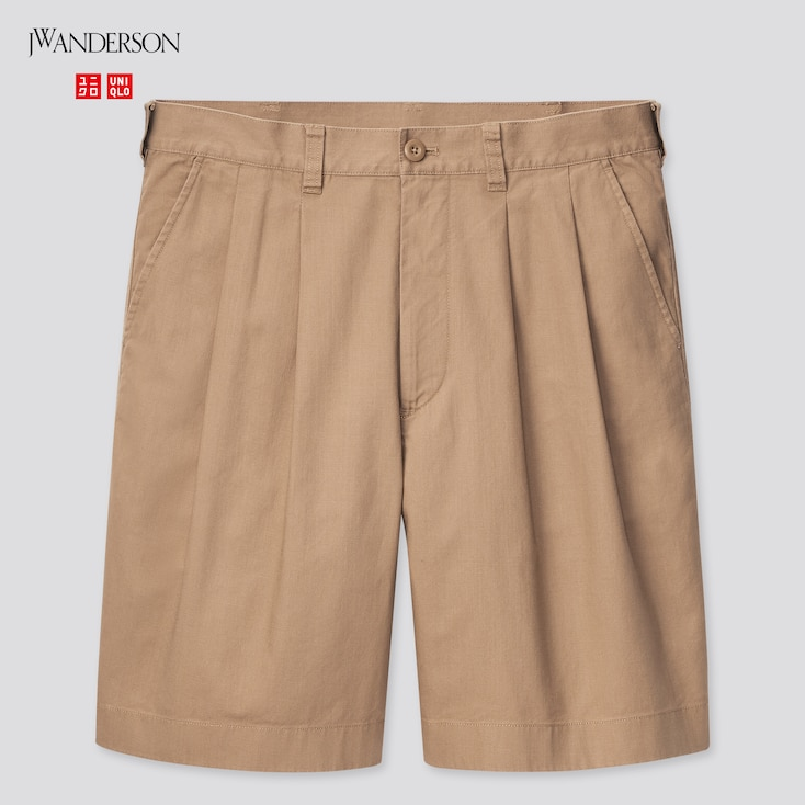 Men Pleated Chino Shorts (Jw Anderson), Brown, Large