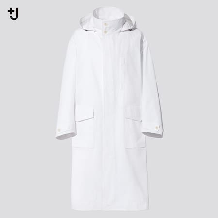 Men +J Loose Fit Hooded Long Coat