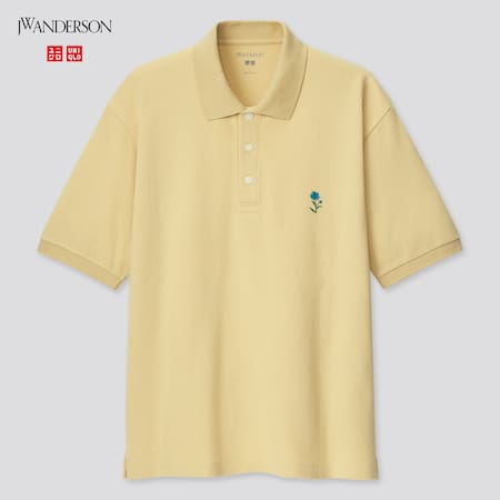 Men JW Anderson Flower Embroidered Polo Shirt