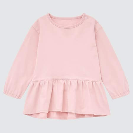 Babies Toddler AIRism Cotton Frilled Long Sleeved Top