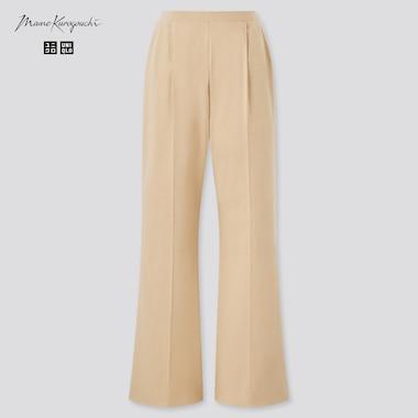 Women Airism Cotton Pleated Pants (Mame Kurogouchi), Beige, Medium
