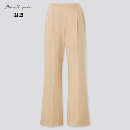 Women Mame Kurogouchi AIRism Cotton Pleated Trousers