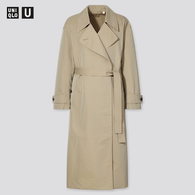 Women U Trench Coat, Khaki, Medium