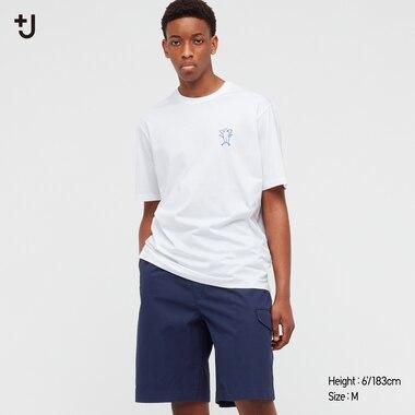 Herren +J Gemustertes SUPIMA BAUMWOLLE T-Shirt