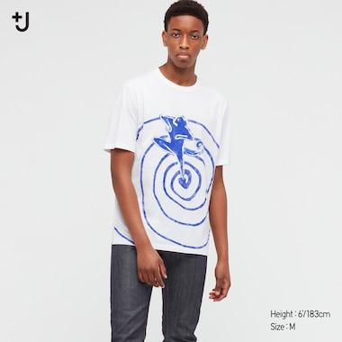 Men +J Supima¸ Cotton Printed Short-Sleeve T-Shirt, White, Medium