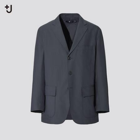 Men +J Wool Blend Loose Fit Jacket