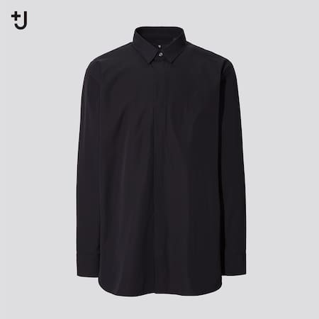 Men +J Supima Cotton Regular Fit Shirt (Half Button-Down Collar)