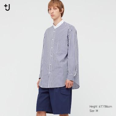 Herren +J SUPIMA BAUMWOLLE Hemd mit Stehkragen (Loose Fit)