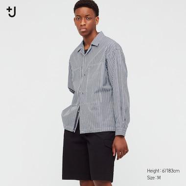 Herren +J SUPIMA BAUMWOLLE Hemd mit Brusttaschen (Loose Fit)