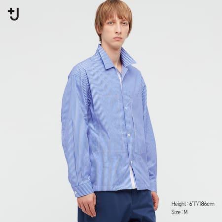 Men +J Supima Cotton Loose Fit Double Pocket Shirt