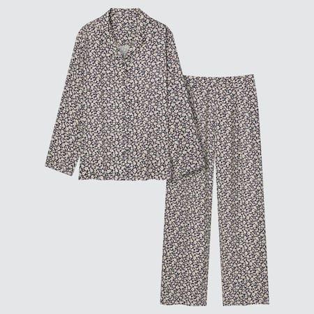 Women Joy Of Print Satin Flower Print Pyjamas