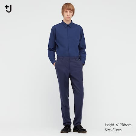 Men +J Wool Slim Fit Striped Trousers