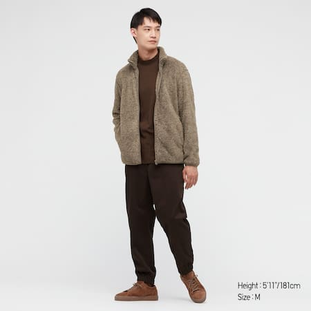 Men Fluffy Fleece Zipped Jacket
