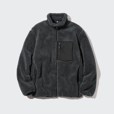 Men Windproof Outer Fleece Zipped Jacket