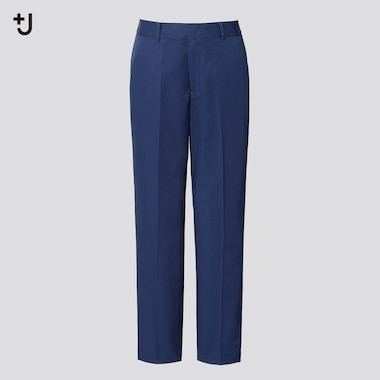 Women +J Cotton Linen Blend Tapered Fit Trousers