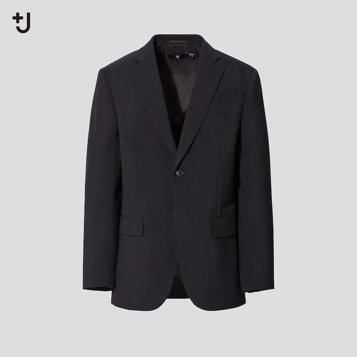 Men +J Wool Tailored Jacket Set, Black, Large