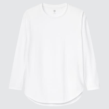 Kids Smooth Cotton Longline Long Sleeved T-Shirt