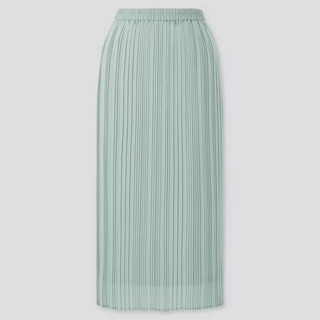 Women Chiffon Pleated Narrow Skirt