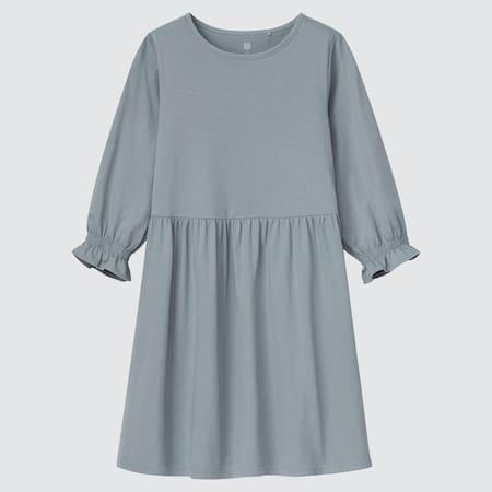 Mädchen Baumwollkleid mit 3/4-Arm