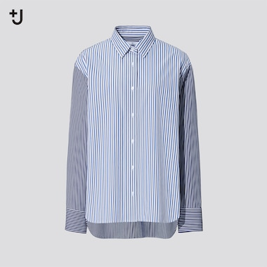Women +J Supima Cotton Loose Fit Striped Shirt