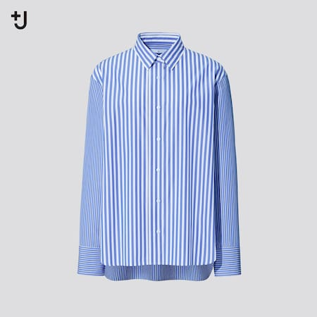Women +J Supima Cotton Loose Fit Striped Shirt