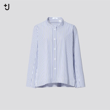 Women +J Supima Cotton Striped Shirt Jacket