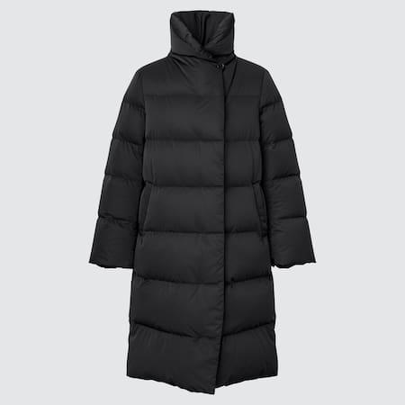 Women Powder Feel Down Long Coat