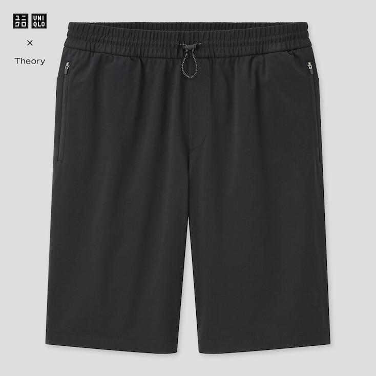 Men Ultra Stretch Active Half Pants (Theory), Black, Large