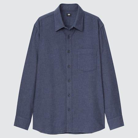 Men Flannel Regular Fit Shirt (Regular Collar)