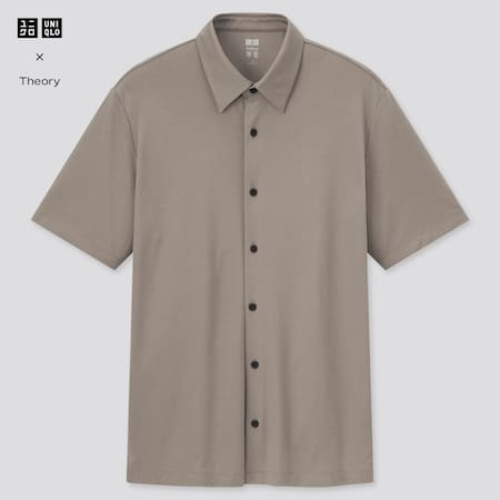 Men Theory AIRism Slim Fit Full Open Polo Shirt