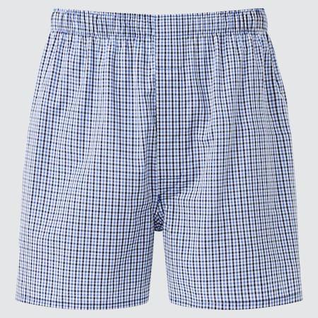 Men Woven Tartan Checked Boxer Shorts