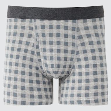 Men Supima Cotton Boxer Briefs, Gray, Medium