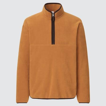 Men Fleece Half-Zipped Pullover