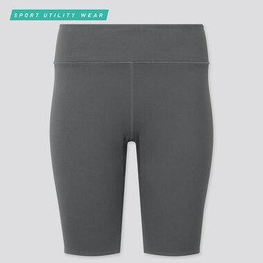 Women Airism Soft Biker Shorts (9.5in), Gray, Medium