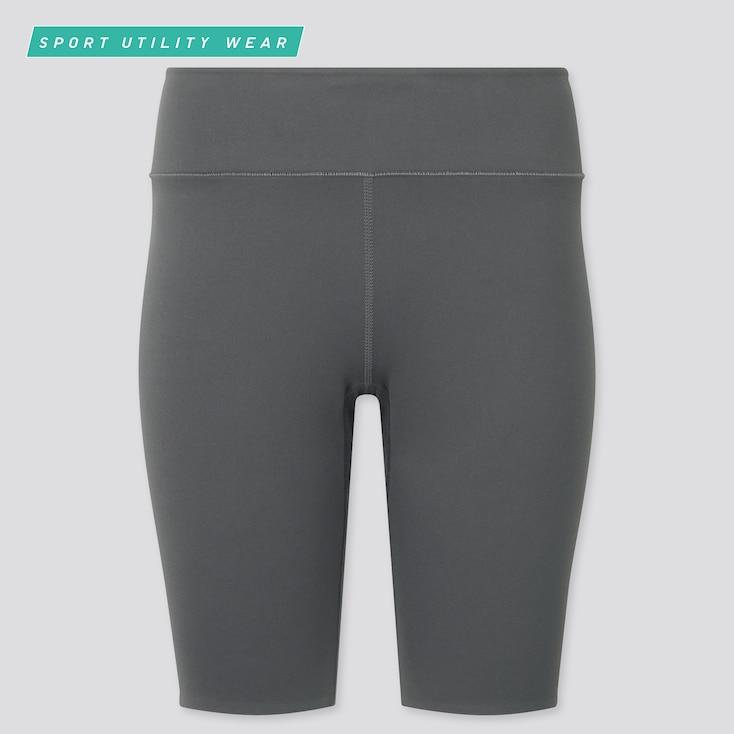 "Women Airism Soft Biker Shorts (9.5""), Gray, Large"