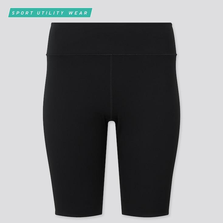 "Women Airism Soft Biker Shorts (9.5""), Black, Large"