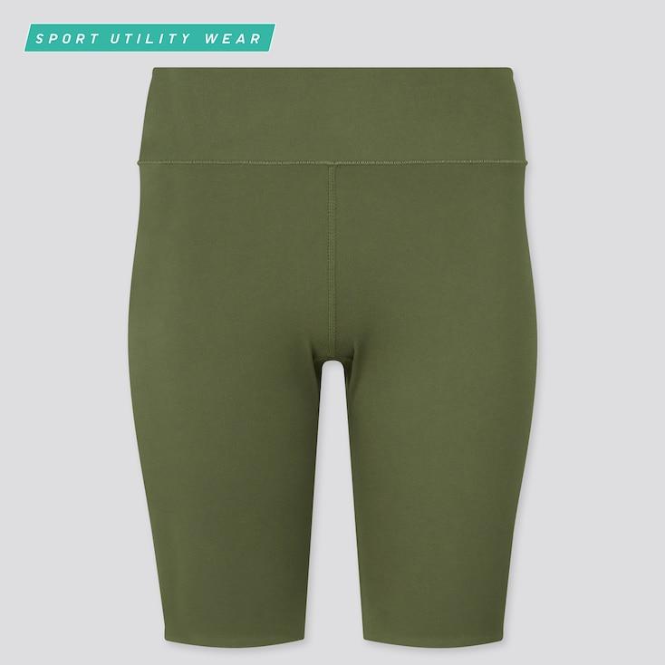 "Women Airism Soft Biker Shorts (9.5""), Olive, Large"