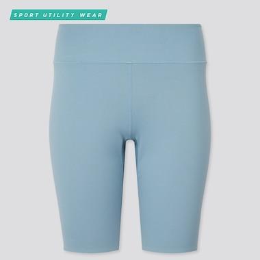 Women Airism Soft Biker Shorts (9.5in), Blue, Medium