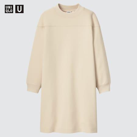 Vestito A Felpa Uniqlo U Collo A Lupetto Maniche Lunghe Bambina