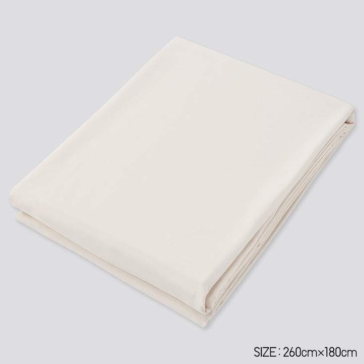 Airism Twin Size Flat Sheet, Natural, Large