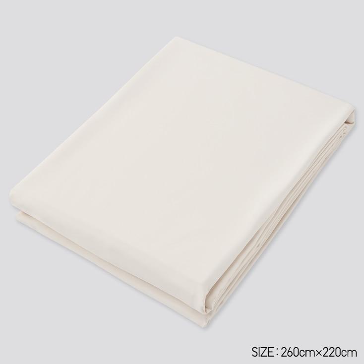 Airism Full-Size Flat Sheet, Natural, Large
