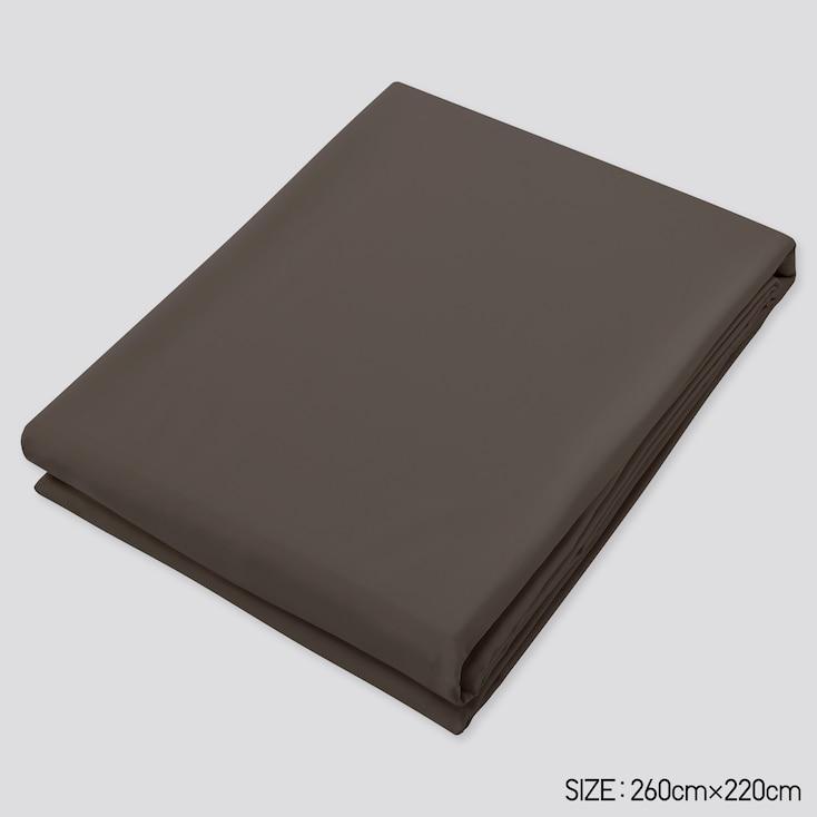 Airism Full-Size Flat Sheet, Dark Brown, Large