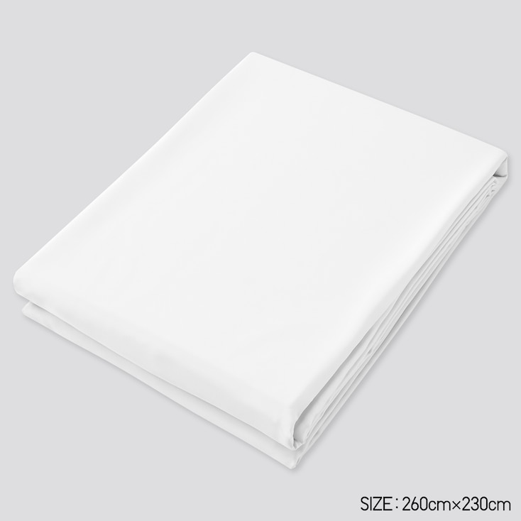 Airism Queen Size Flat Sheet, White, Large