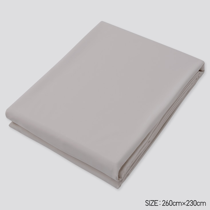 Airism Queen Size Flat Sheet, Gray, Large