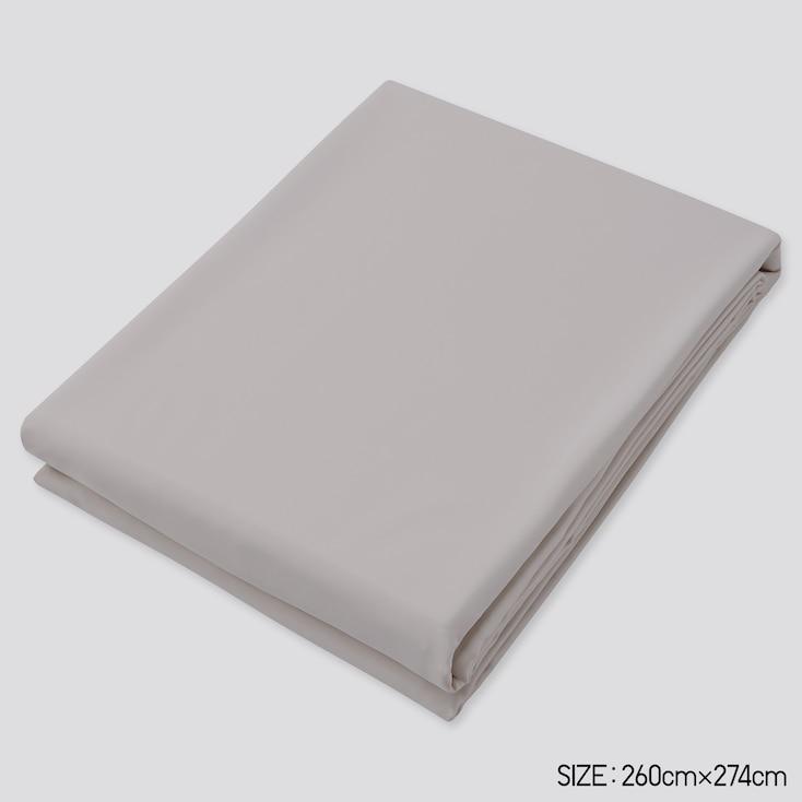 Airism King Size Flat Sheet, Gray, Large
