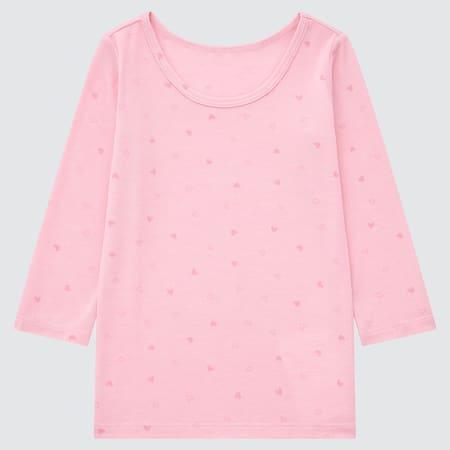 T-Shirt Termica HEATTECH Con Stampa Collo Rotondo Maniche Lunghe Neonato Bambino