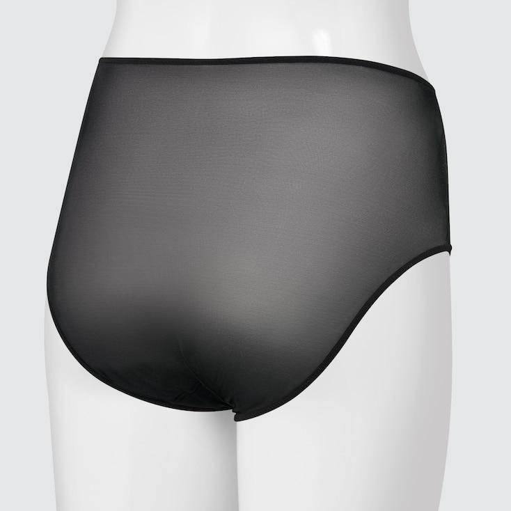 Women Mesh High-Rise Briefs (Mame Kurogouchi), Black, Large